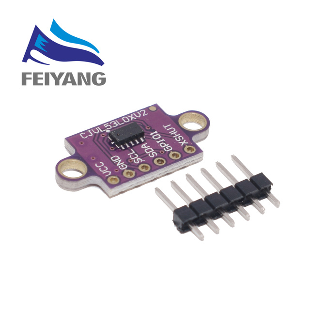 VL53L0X Time of Flight (ToF) Laser Ranging Sensor Breakout 940nm GY VL53L0XV2 Laser Distance Module I2C IIC