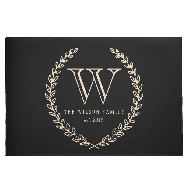 Elegant And Family Friendly Atlanta Home: Modern Personalised Family Doormat Custom Name Monogram