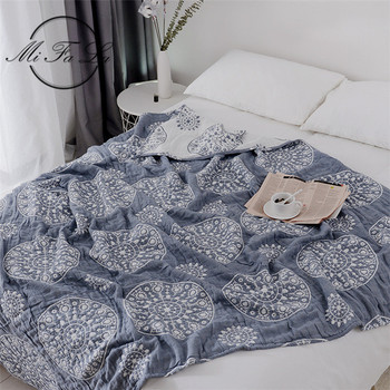 150*200cm Japanese Air Condition Summer Quilt Knitted Blankets for Beds Cotton Towel Cloth Plaids Bed Cover cobijas para cama