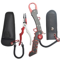 New Fishing Tackle Set Aluminium Fishing Lip Grips With Dragon Pattern Handle Fishing Pliers Fishing Tool Set High Promotion Set