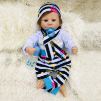 Boneca reborn silicone baby dolls 45cm soft body BJD newborn baby girl toddler dolls for child gift bebe s reborn menino