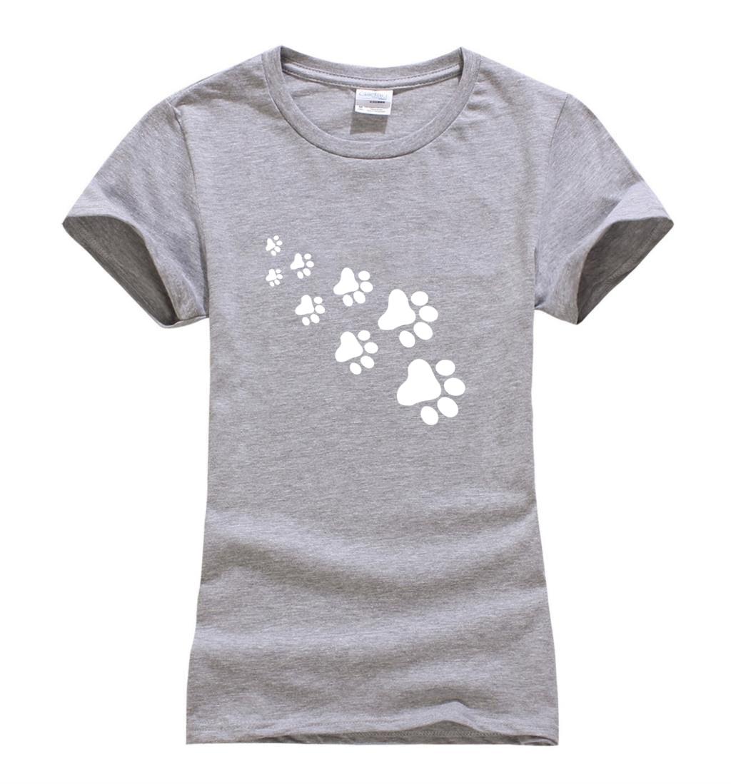 kawaii cat paws print women t shirt 2017 fashion summer. Black Bedroom Furniture Sets. Home Design Ideas