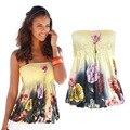 Womens Strapless T-shirt Tee Ladies Bandeau Plain Boob Tube Top Tops Vest Fashion Style Pull Elastic Bra Top