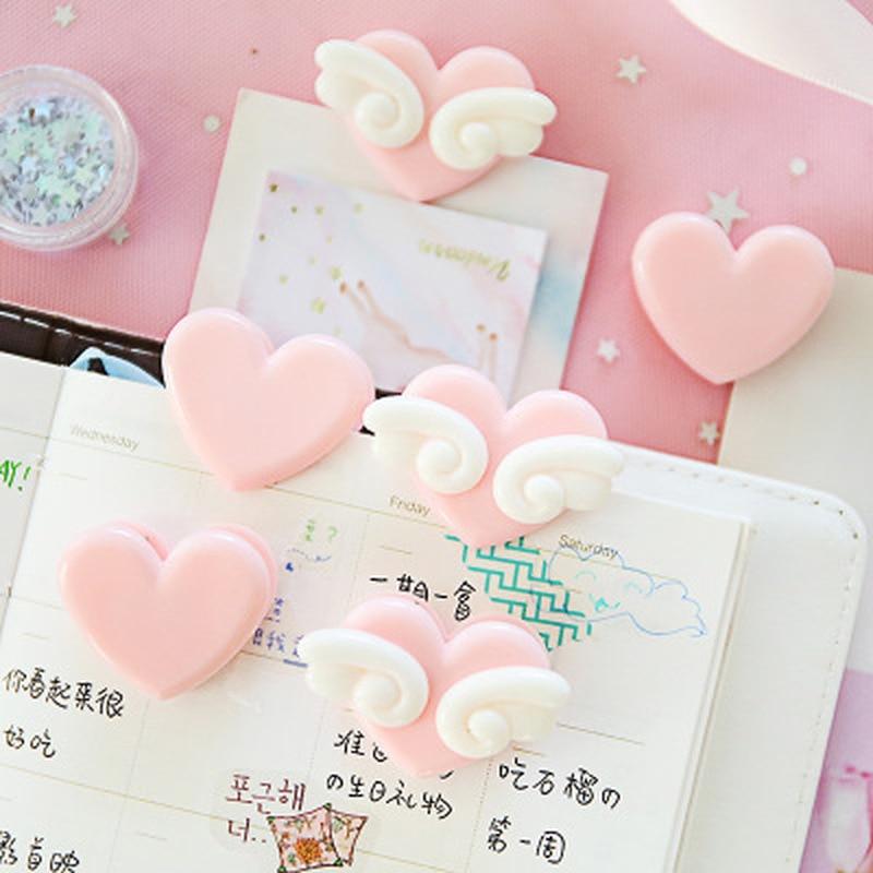 1pcs Wings Love Paper Clip Cute Innovative Paper Clip Cute Stationery Paperclips Student Paper Clips Kawaii School Supplies