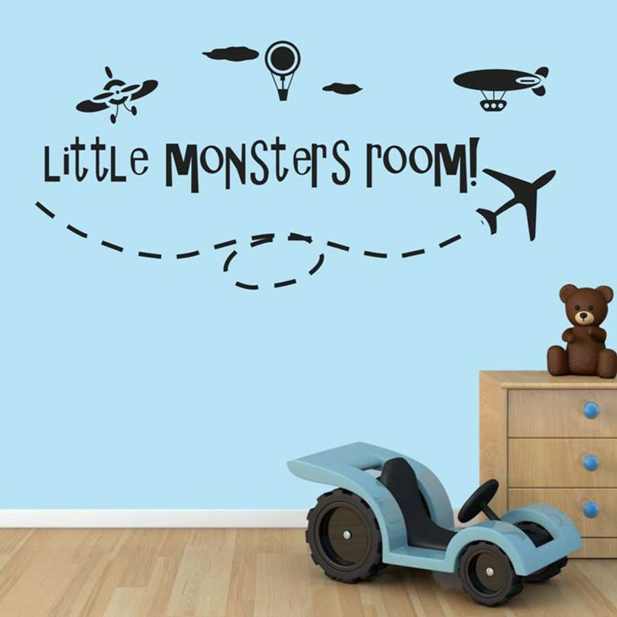 City Construction Truck Planes Boys Wall Decals