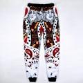 Mais nova moda dos homens/mulheres calças corredores gráfico 3d corações de impressão do cartão de jogo rei mens sweatpants unisex hip hop calças