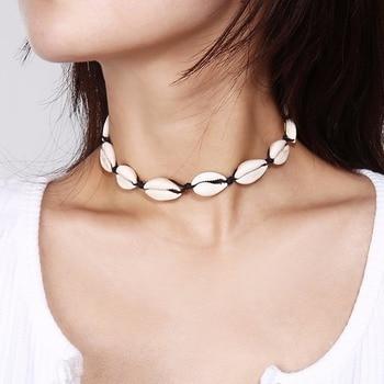 Artilady shell pendant necklace beads puka shell statement necklace 4