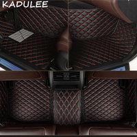 KADULEE PU leather car floor mats for Audi Q7 2006 2007 2014 2015 2016 2017 2018 Custom auto foot Pads automobile carpet covers