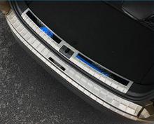 Для Skoda Kodiaq 2017 2018 нержавеющая сталь снаружи внутренний и внешний сзади амортизирующая пластина защитная крышка 2 шт. Цвет: черный, синий красный логотип