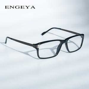 Image 1 - Men Glasses Clear Fashion Brand Designer Optical Eyeglasses Frame Transparent Glasses Men High Quality Prescription Eyewear #134