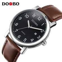 Фотография DOOBO Original Men Quartz Watch Reloj Hombre Leather Business Watches Man Clock Chronograph Army Military Watch Sport for Male