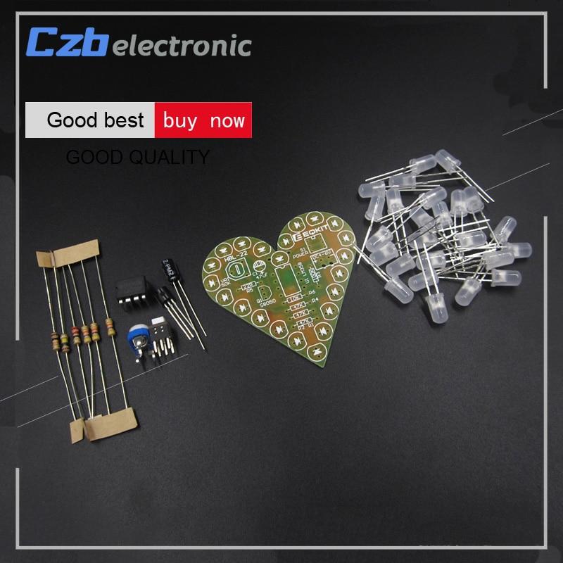 Heart Shape Breathing Lamp Kit DC 4V-6V Breathing LED Suite DIY new
