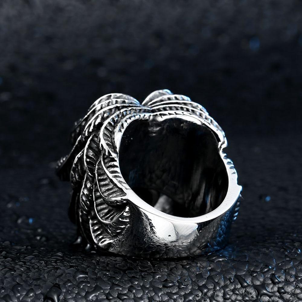 Beier Bagian Keren Bersayap Untuk Pria Stainless Steel Punk man - Perhiasan fashion - Foto 5