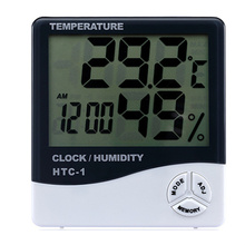 MOSEKO Indoor Room LCD Electronic Temperature Humidity Meter Digital Thermometer Hygrometer Weather Station Alarm Clock HTC-1 цена