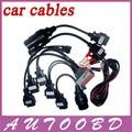 10pcs/Lot OBD/OBD2 CDP Car Cables diagnostic tool 8Pcs Full Set Car Adapters tcs CDP Pro OBDII OBD2 Car Cable --DHL Freeshipping