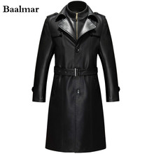 Jaqueta De Couro Leather Jacket Men Casual Pu Clothing Men s Long Leather Jackets And Coats