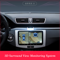 Newest 3D HD Surround View Monitoring System 360 Degree Driving Bird View Panorama Car Cameras 4 CH DVR Recorder with G sensor