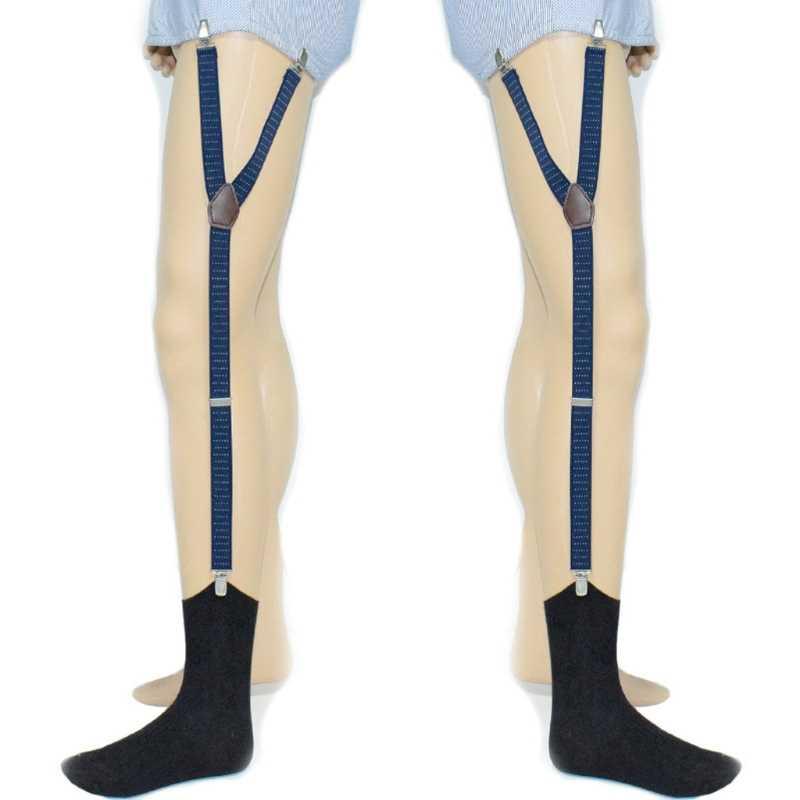 Men Elastic Band Garters Non slip Sock Shirt Stays Holder Suspender Strap Clamps
