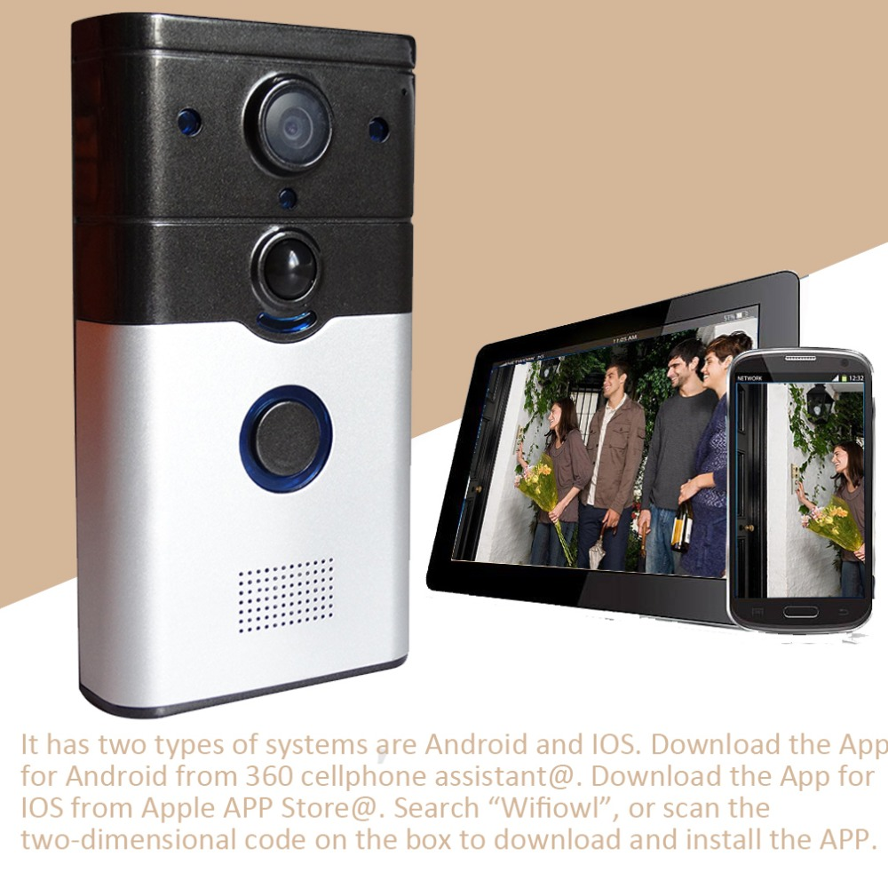 ZJ008-A 720P WIFI video Doorbell Wireless Intercom Doorbell PIR Motion Detection Night View SD card Video Smart Doorbell RingZJ008-A 720P WIFI video Doorbell Wireless Intercom Doorbell PIR Motion Detection Night View SD card Video Smart Doorbell Ring