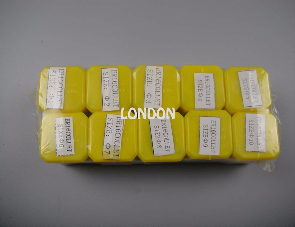 10 Pieces ER16(1mm-10mm )spring Collet For Cnc Milling Machine Spindle
