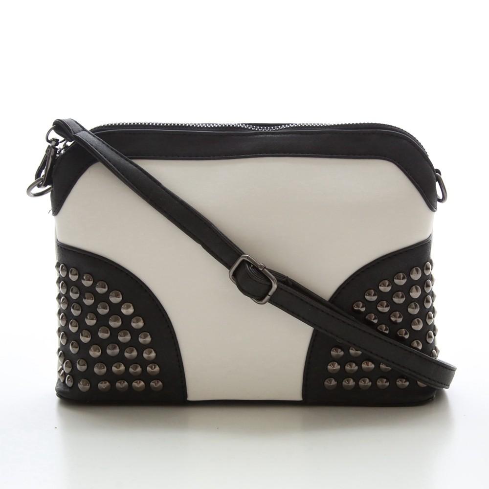 Rivet Shoulder Women Bag Vintage Scrub Shell Messenger Bags Chain Strap Crossbody Bag Clutch Bolsa Feminina Herald Fashion Brand (6)
