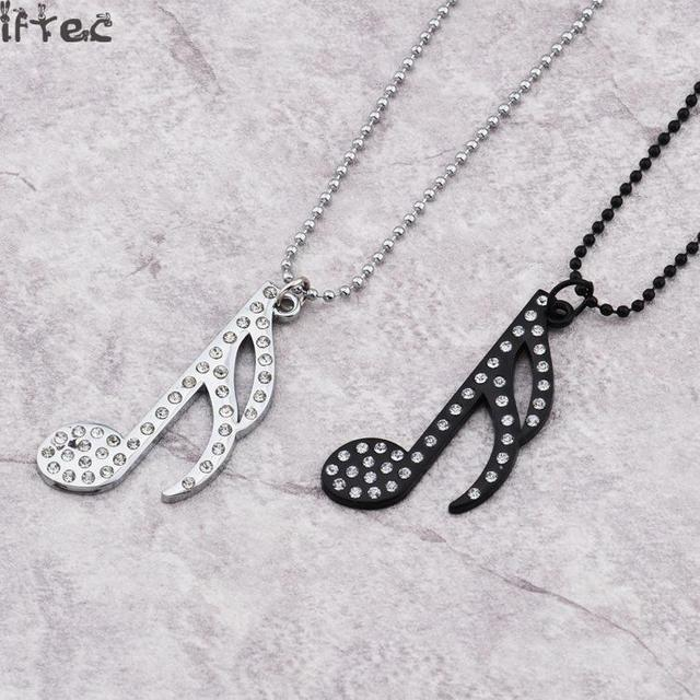 2017 hot sale women hip hop jewelry silverblack tone music notes 2017 hot sale women hip hop jewelry silverblack tone music notes crystal pendant girls aloadofball Images