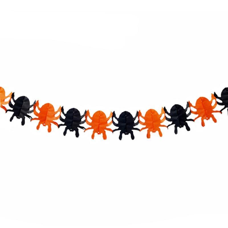 Spooky Paper Spider Ghost Pumpkin Shape Garland Hanging ...