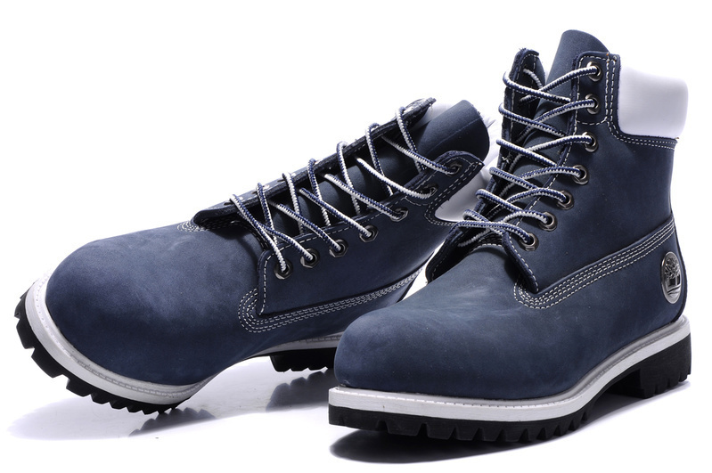 Original TIMBERLAND Man 10061 Blue Winter Ankle Boots,Men Timber Silver Metal Genuine Leather Outdoor Warm Durable Shoes 40-45 5