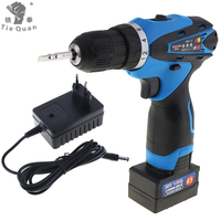 AC 100 240V Handling Screws Punching Cordless 25V Electric Drill Screwdriver With Lithium Battery