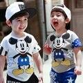 Hot Criança Crianças Minn ie Do Bebê Das Meninas Dos Meninos de Manga Curta Tops T-Shirts Roupa 2-7A