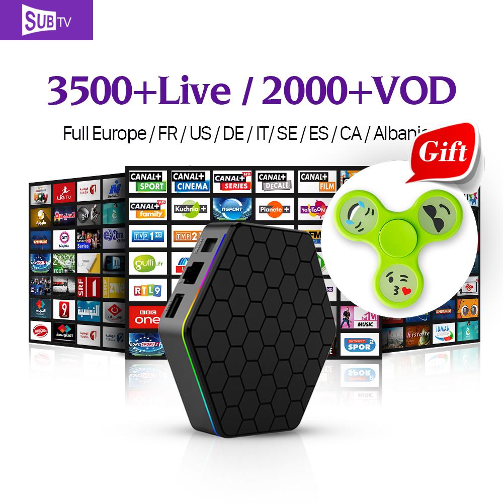 Prix pour Plein Européenne Arabe Français HD IPTV Canaux T95ZPLUS Android 6.0 TV boîte Amlogic S912 avec Canal Plus Français Iptv ROYAUME-UNI Set Top boîte