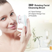 TB 0759A 3 in1 Rotating Electric Facial Cleansing Brush 2 Speed Setting With Storage Case Face Skin Cleanser Exfoliator Brush