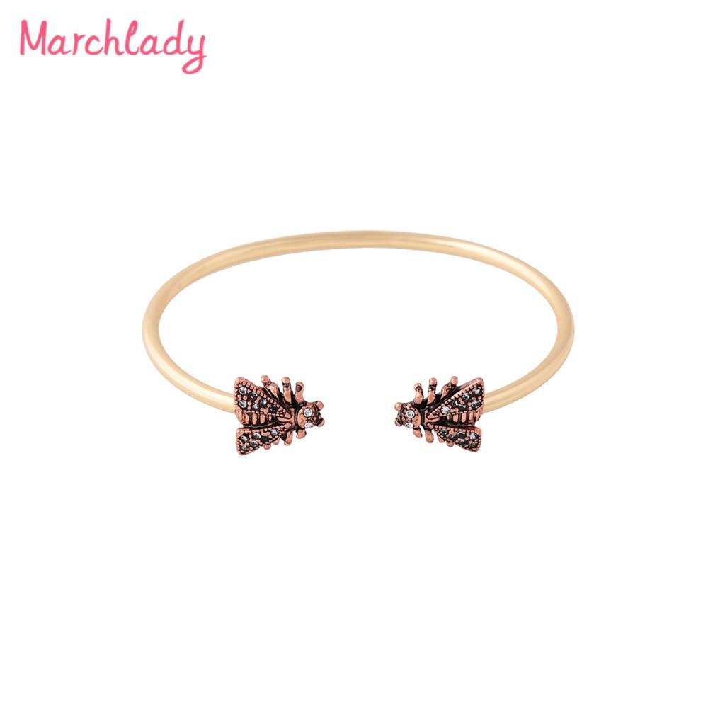 Ethnic Style Creative Wild Jewelry Female Retro Alloy Insect Cuff Bracelet Creative Girl Friends Miraculous Ladybug Joyeria