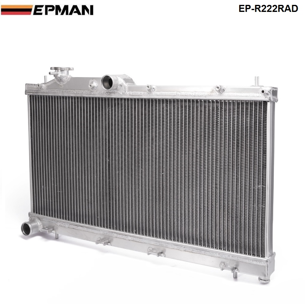 Aluminum Racing Radiator Fit For Subaru Impreza WRX STi GRB 08-14 H4 M/T EP-R222RAD epman intercooler y pipe hose kit for subaru wrx sti gdb ggb 2 0 00 07 ver 7 9 3pcs ep sbt007
