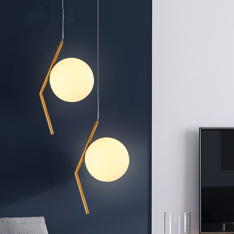 Modern Minimalist Pendant Light Lamp Nordic Ceiling Clothing Decoration Glass Ball Lamp For Living Room Bedroom Dining Room