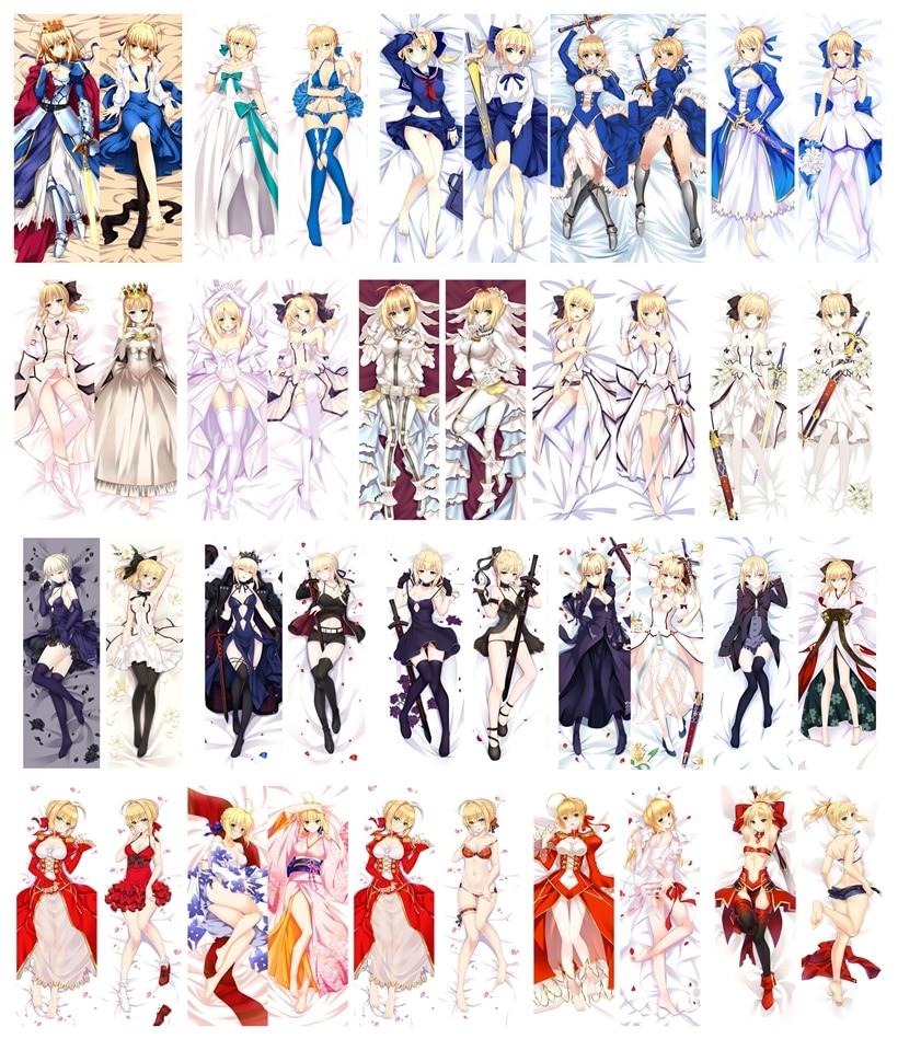 Anime Dakimakura Body Fate Stay Night Saber 150x50cm 100x35cm Pillow Case Cover Manga 1