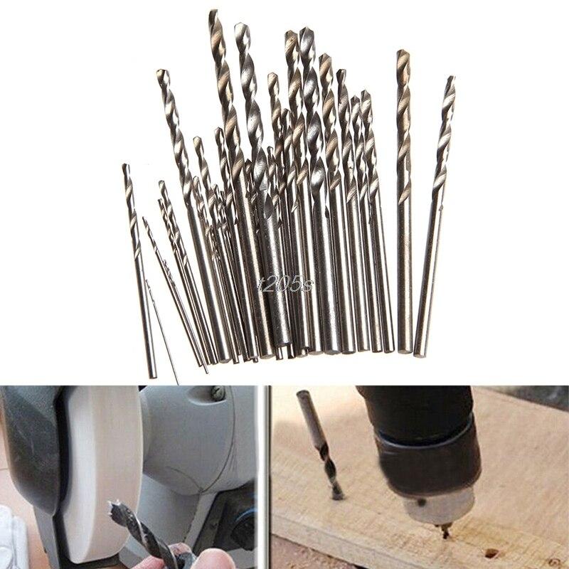 28Pcs Mini Micro HSS Twist Drill Bits Set Metric Sizes 0.3-3.0mm For PCB Crafts T12 Drop ship 13pcs lot hss high speed steel drill bit set 1 4 hex shank 1 5 6 5mm free shipping hss twist drill bits set for power tools