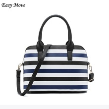 Luxury handbags women shell bags Designer High Quality PU Leather Striped ladies top handle bags Shoulder Bags for women 2018
