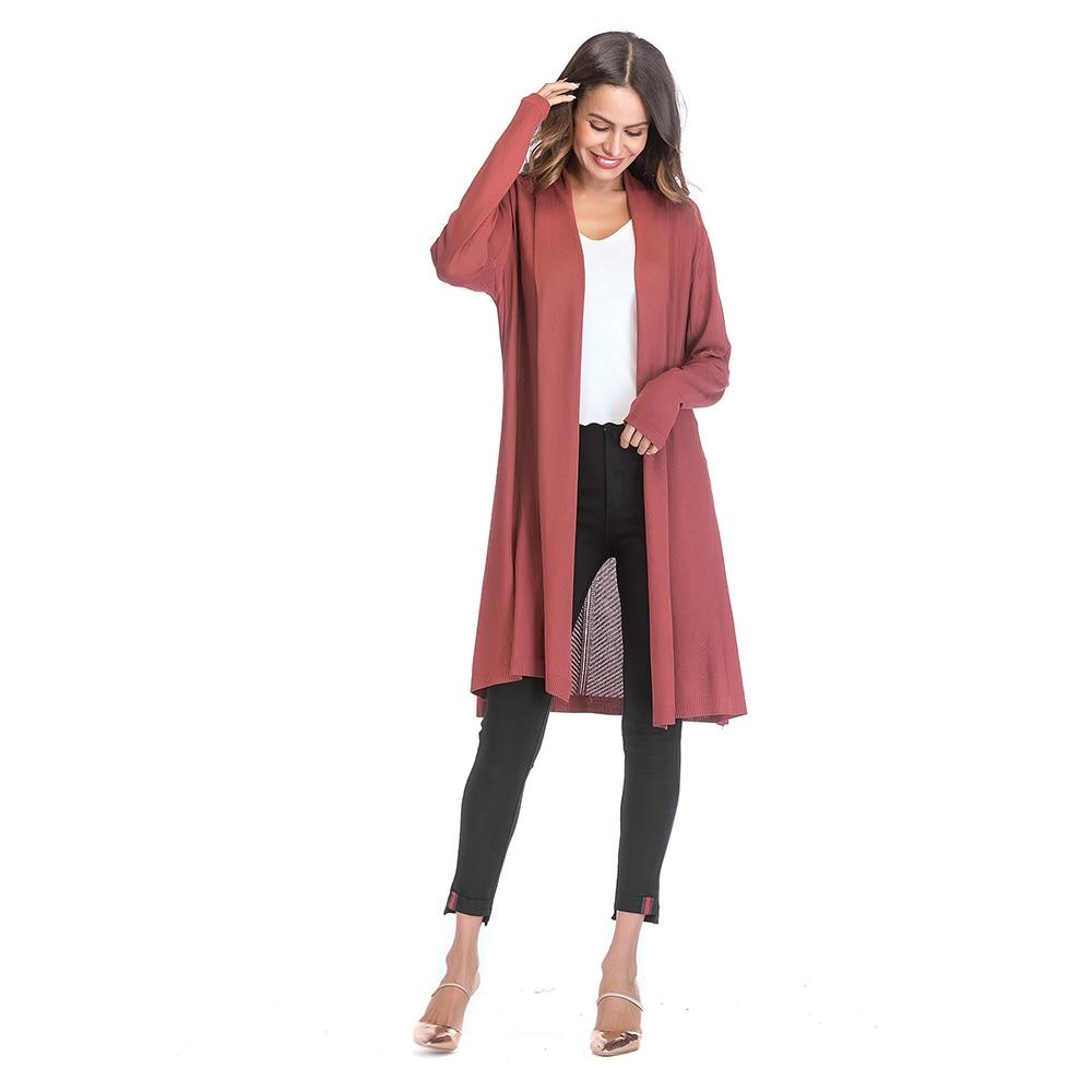 aad54888ffb6f1 Brown Long Cardigan Sweaters womanKimono Summer Ladies Christmas Sweater  Fashion Designer Jumper Elegant Cardigan 8A50026