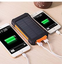 Top Solar Power Bank Waterproof 30000mAh Solar Charger USB Ports External Charger Powerbank for Xiaomi Smartphone with LED Light(China)