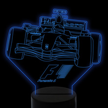 Colorful Gradient Visual 3D Led Touch Switch Night Light F1 Racing Car Desk Lamp Kid Bedroom Creative Light Fixtures Decor Gifts hot sale cartoon figure 3d elsa anna bulb night light led lamp colorful atmosphere gadget decor bedroom baby girl kid gifts rc