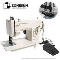 ZONESUN 106 rp прямая бытовая швейная машина меховая кожа одежда толстый швейный инструмент из толстой ткани сшивающий инструмент