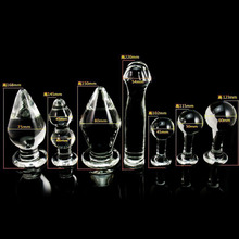 7pcs/set,7different large glass anal plug big dildo anal beadsbuttplug,gay sex products toys for men women glass butt plug