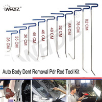 WHDZ 10Pcs Paintless Dent Repair Kit Pdr Hook Car Body Dent Repair Tools Paintless Rods Dent