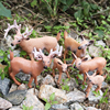 1PC Home Party Decoration Static Decor Xmas Cute 1pc HOT PVC Deer Figure Christmas Fashion Family of Three Doll 3
