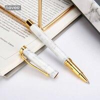Never Original Marble Grain Gel Pen Roller Signing Pen 0 5mm Black Ink Gift Package Office