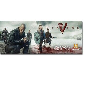Шелковый плакат гобелен сериала Викинги вариант 2
