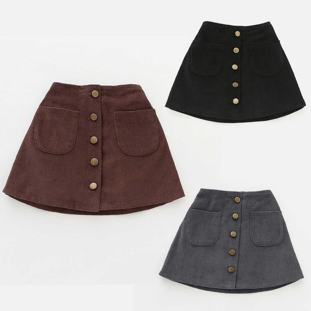 60765ae42 Bebé niña falda otoño invierno Niño niños de pana de algodón faldas de gris falda  de