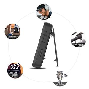 Image 4 - Bluetooth MP4 Player 16GB Clip Sport Sweatproof Lossless Audio Player with FM Radio pedometer and Bookmark,Maximum Support 64GB