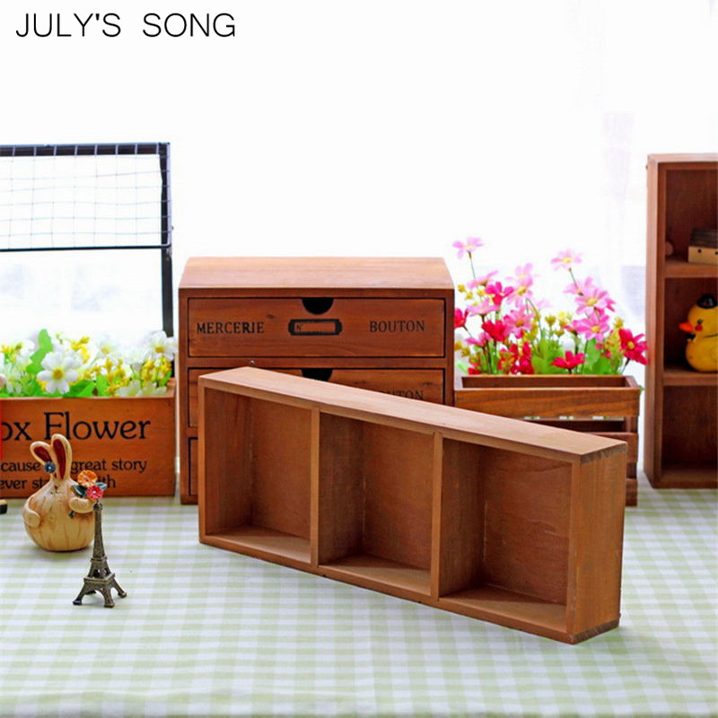 Hot Sale July S Song Retro Wooden Storage Box Wood Trays Sundries